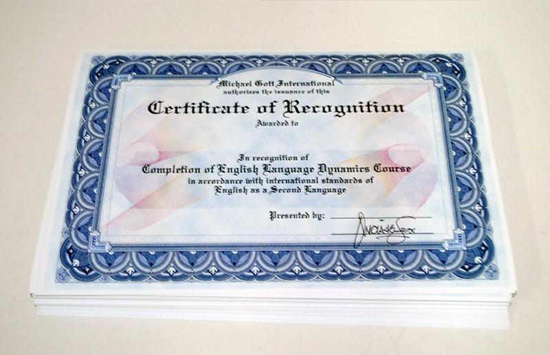 Заламинированные сертификаты фото