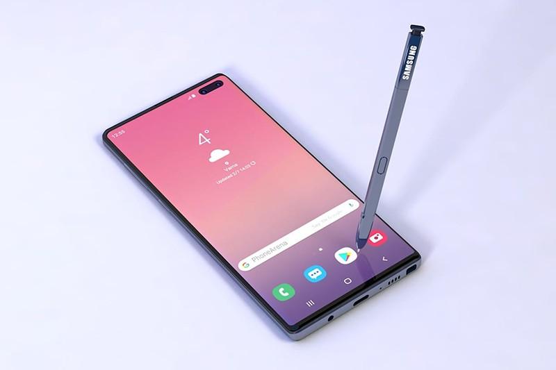 Дизайн Galaxy Note 10