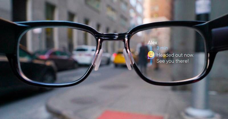 Высветившиеся сообщение в очках