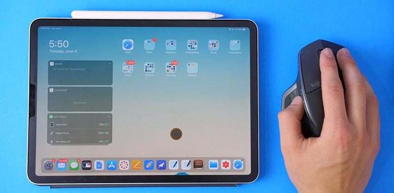 Подключение мыши к iPad