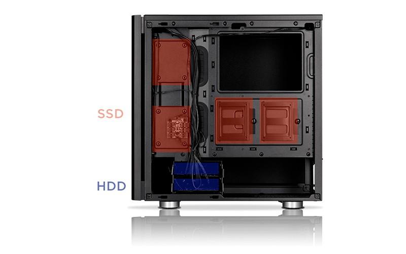 Размещение SSD и HDD