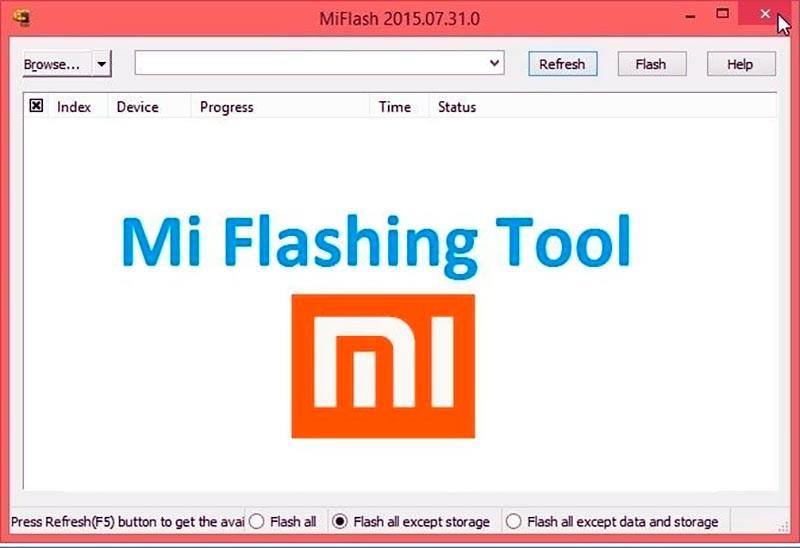программа MiFlash