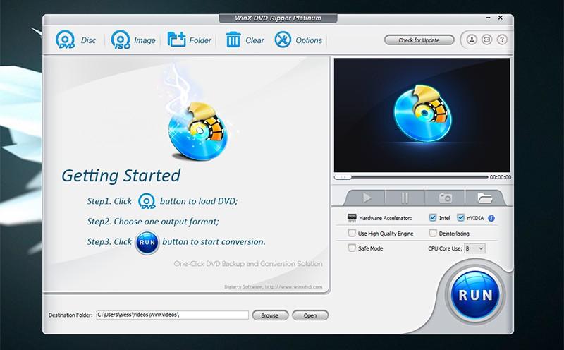 приложение WinX DVD