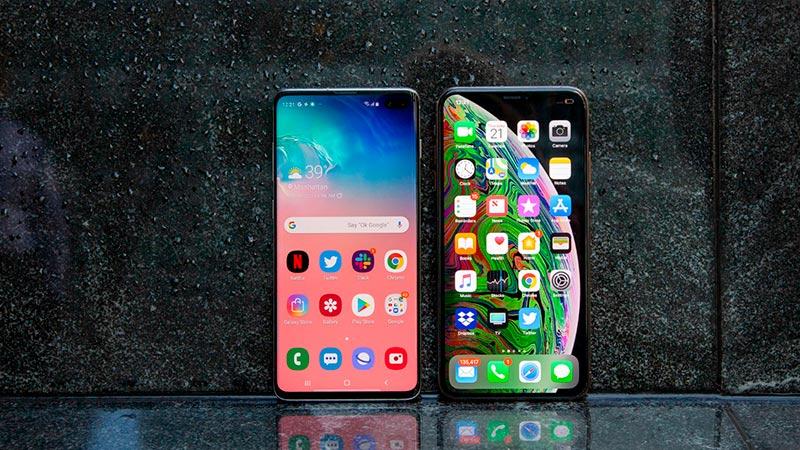 iPhone и Samsung фото