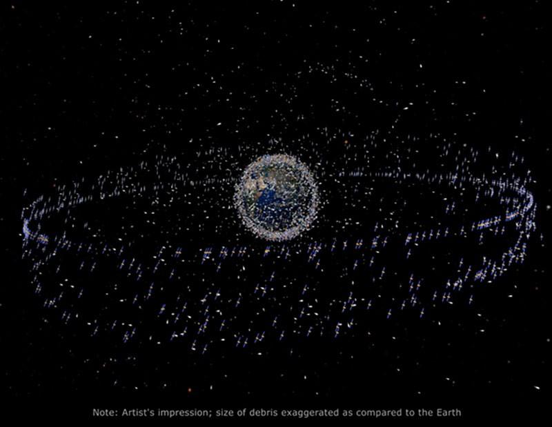 Увеличение мусора в космосе фото