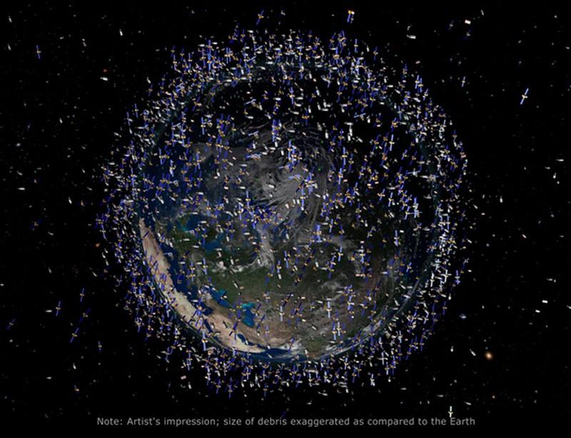 Космический мусор вокруг Земли фото