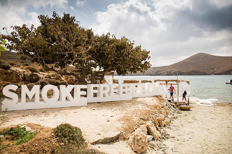 Бездымный пляж на острове Астипалея