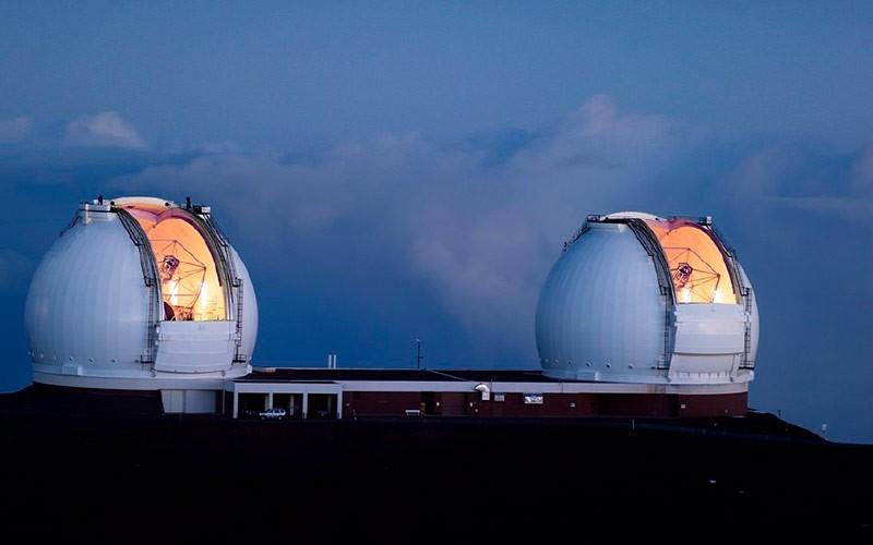 Телескопы Keck I и II фото