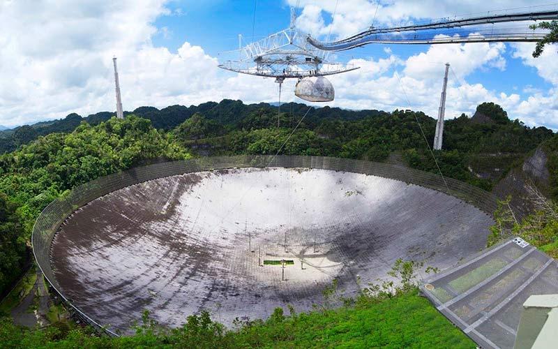 Радиотелескоп обсерватории Аресибо фото