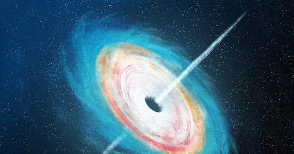 Черная дыра иллюстрация