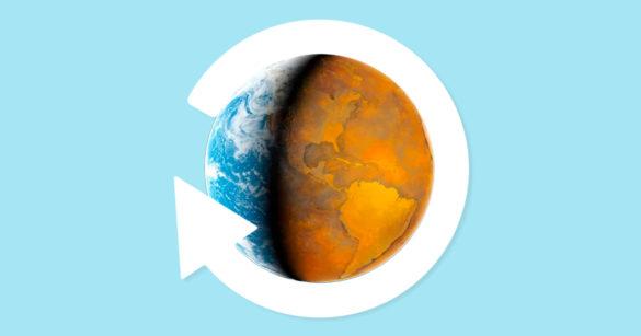 изменение климата на планете иллюстрация