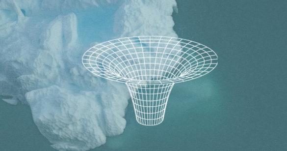 Глубокая точка в Антарктиде иллюстрация