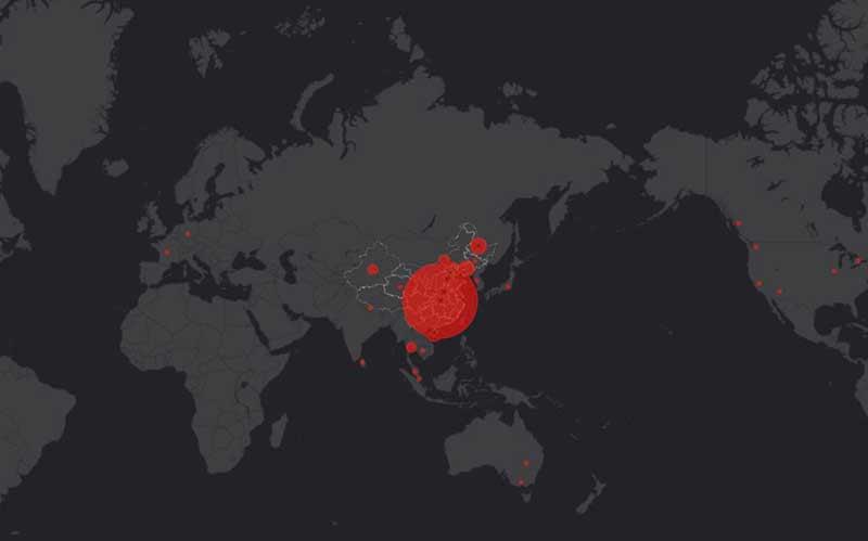 Распортранение коронавируса на карте фото