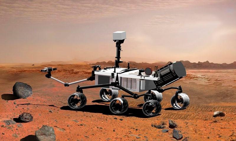 Марсоход на Марсе фото