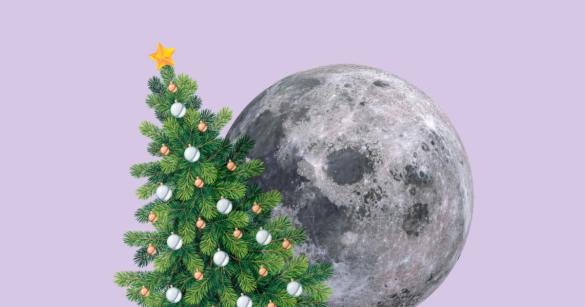 Новый год в космосе иллюстрация