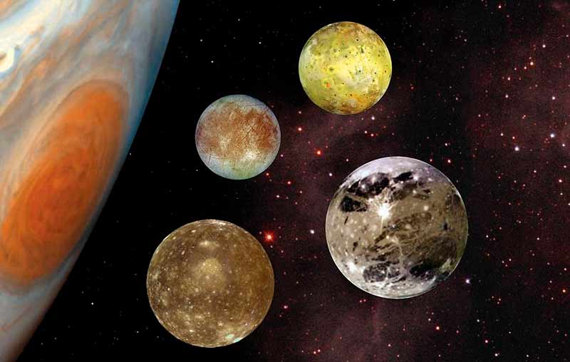 Спутники Юпитера фото