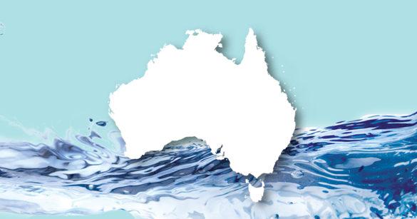 Дожди в Австралии иллюстрация