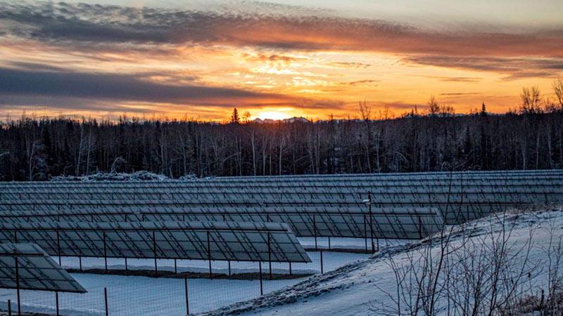 Солнечная ферма на Аляске фото