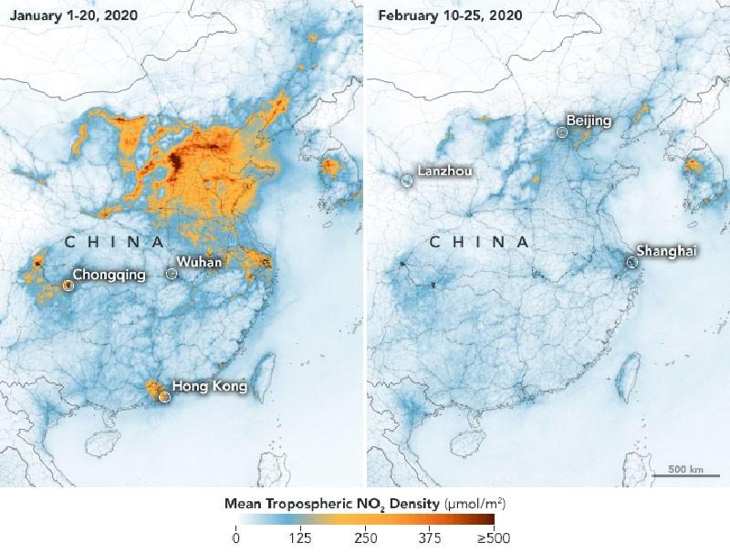 Карты концентрации диоксида азота