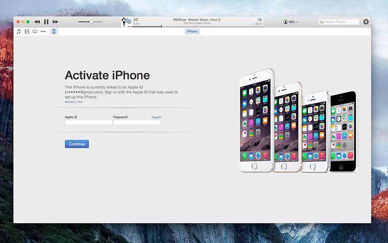 Активация айфона через iTunes фото