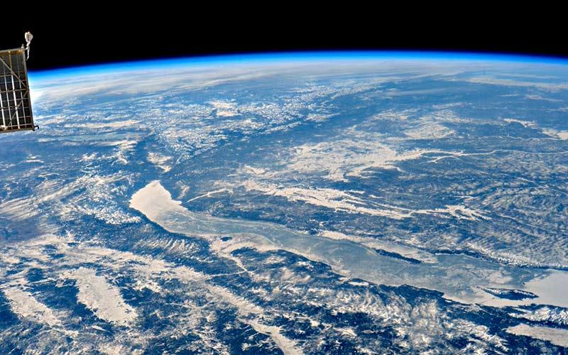 Байкал вид с МКС фото