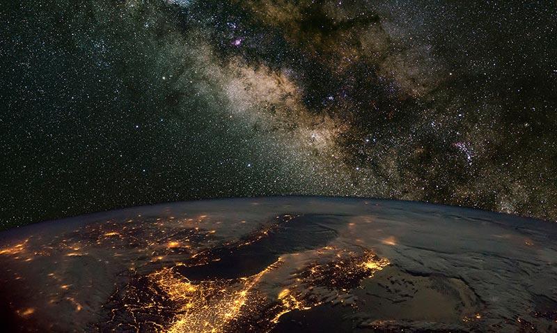Начало космоса от земли фото