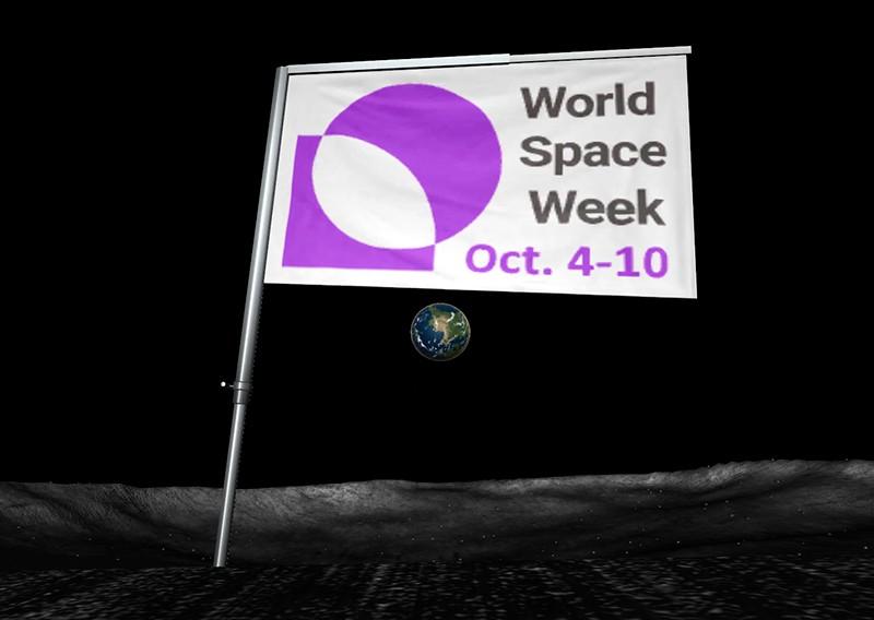 World Space Week флаг