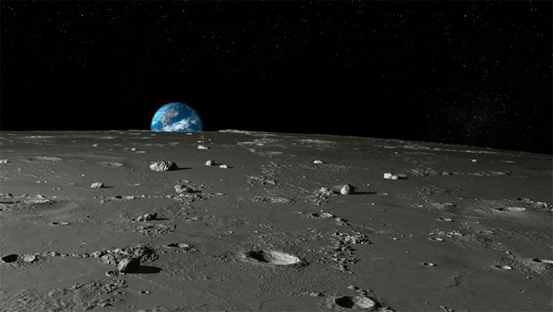Вид Земли с Луны фото