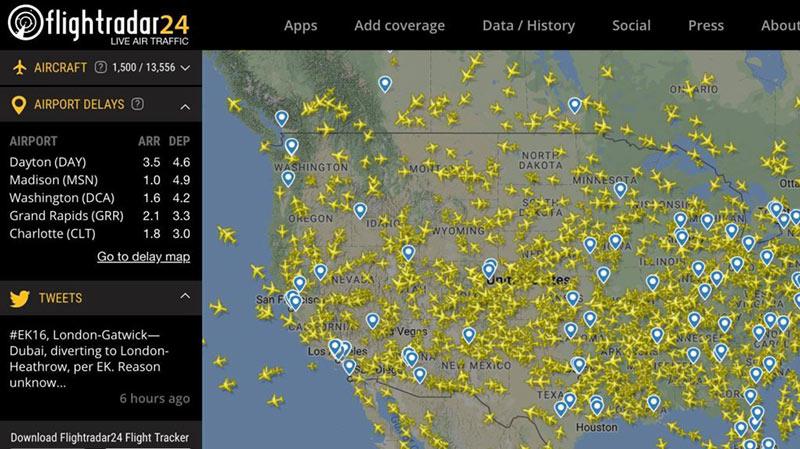 Самолеты на карте скриншот