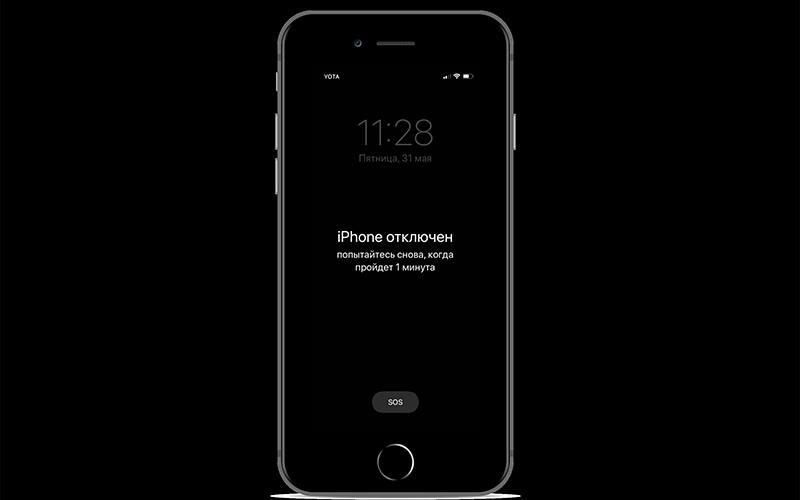 iPhone отключен фото