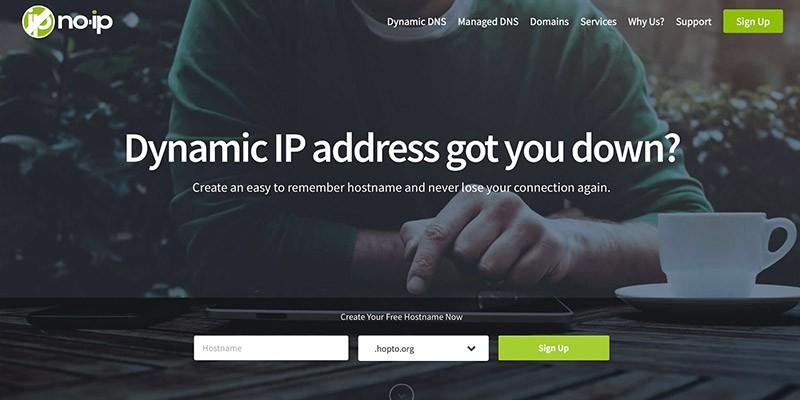 Cайт NO-IP скриншот