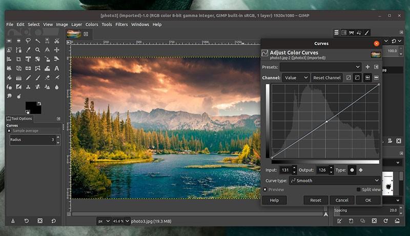 Графический редактор GIMP фото