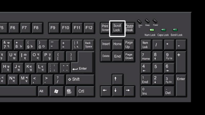 Кнопка Scroll Lock на клавиатуре