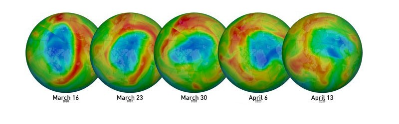 Еженедельные значения озона схема
